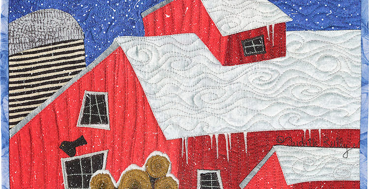 Red-Barn in Winter